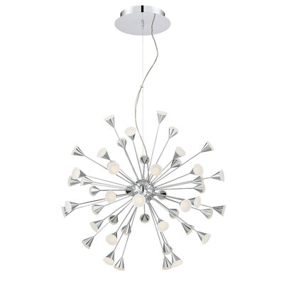 Esplo 48-Light Geometric Pendant