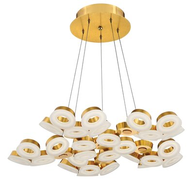 Glendale 30-Light Cluster Pendant Finish: Gold