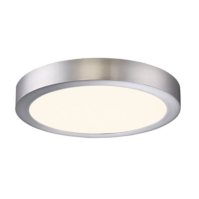 Brant 1-Light Flush Mount Finish: Satin Nickel