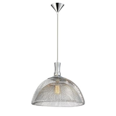 Filo 1-Light Pendant Finish: Chrome, Size: 15 H x 18 W x 18 D