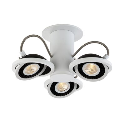 Vision 3-Light Semi Flush Mount