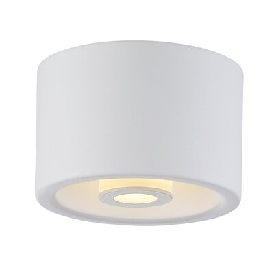 Vision 1-Light Flush Mount Finish: White