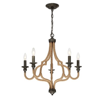 Corda 5-Light Candle-Style Chandelier