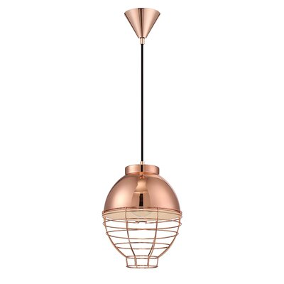 1-Light Mini Pendant Finish: Copper