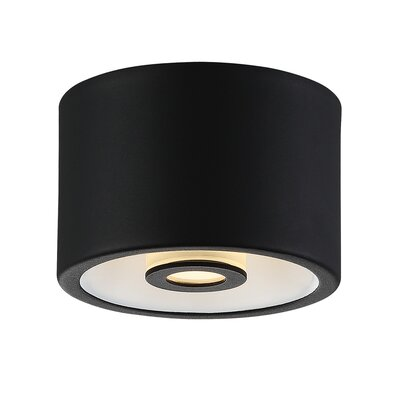 Vision 1-Light Flush Mount Finish: Black