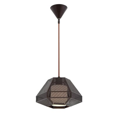 Recinto 1-Light Mini Pendant Finish: Bronze