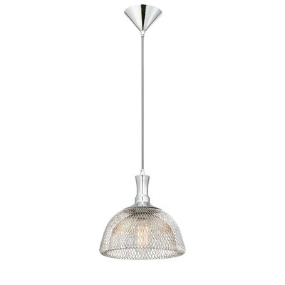 Filo 1-Light Pendant Finish: Chrome, Size: 10.5 H x 10 W x 10 D