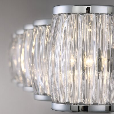 Bronstein 8-Light Barrel Glass Candle-Style Chandelier