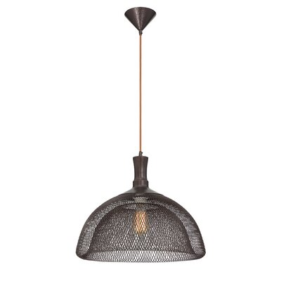 Filo 1-Light Pendant Finish: Bronze, Size: 15 H x 18 W x 18 D