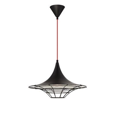 Windsor 1-Light Mini Pendant Finish: Black