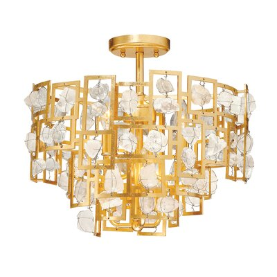 Elrose 6-Light Semi Flush Mount