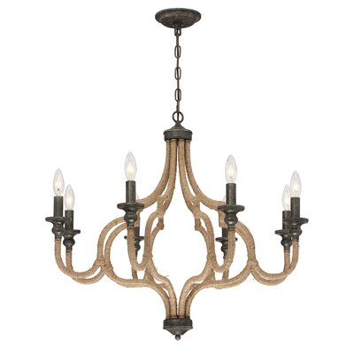 Corda 8-Light Candle-Style Chandelier