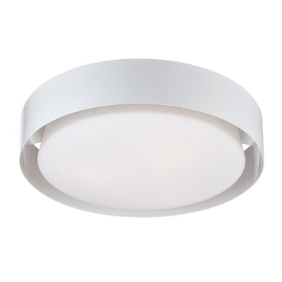 Saturn 1-Light Flush Mount Finish: White