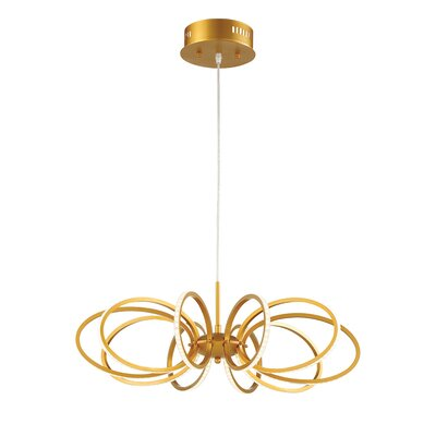 Tela 10-Light Geometric Pendant Finish: Gold
