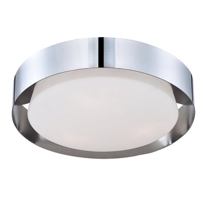 Saturn 1-Light Flush Mount Finish: Chrome