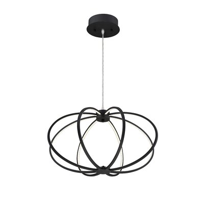 Leggero 8-Light Geometric Pendant Finish: Black