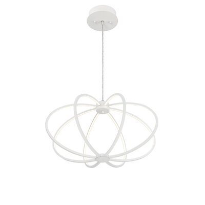 Leggero 8-Light Geometric Pendant Finish: White