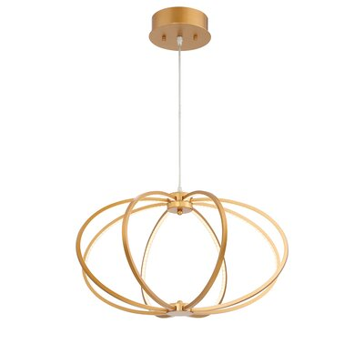 Leggero 8-Light Geometric Pendant Finish: Gold