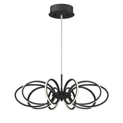 Tela 10-Light Geometric Pendant Finish: Black