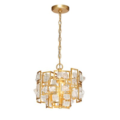 Elrose 3-Light Crystal Pendant