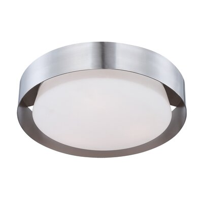 Saturn 1-Light Flush Mount Finish: Satin Nickel