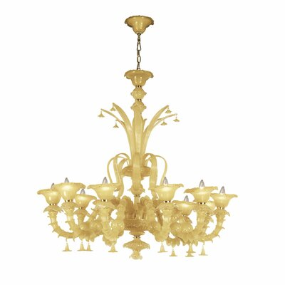 Orillia 10-Light Candle-Style Chandelier Shade: Amber