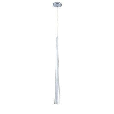 Sliver 1-Light Pendant Finish: Chrome, Shade: Chrome, Size: Large