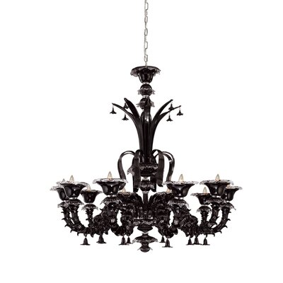 Orillia 10-Light Candle-Style Chandelier Shade: Black