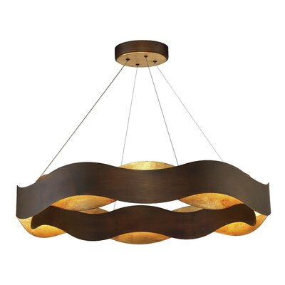 Bridget Metal Waves LED 1 -Light Drum Pendant