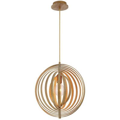 Deanna 1-Light Globe Pendant Size: 18 H x 14 W x 14 D