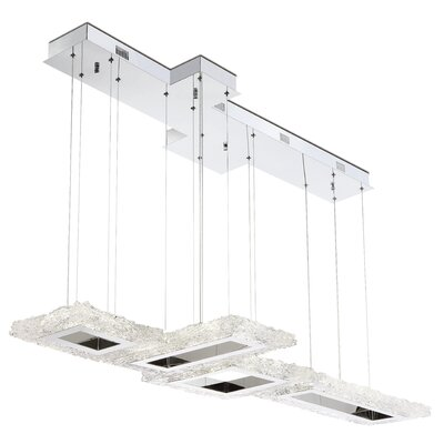 Russel Configurable 4-Light LED Kitchen Island Pendant