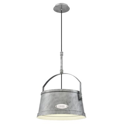 Holmdel Vintage Bucket 1-Light Inverted pendant Size: 16.25W x 16.25D