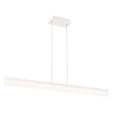 Elinore 1-Light Kitchen Island Pendant Finish: White