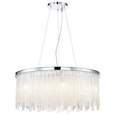 Wanetta 13-Light Glass Crystal Drum Chandelier