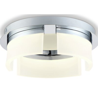 Broyles Opal 3-Light LED Flushmount Size: 4 H x 11 W x 11 D