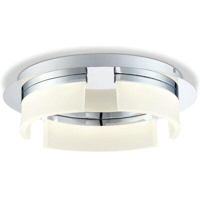 Broyles Opal 3-Light LED Flushmount Size: 4 H x 14 W x 14 D