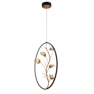 Shirl 1-Light LED Geometric pendant