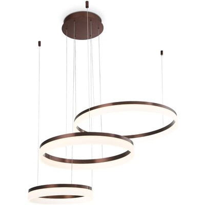 Clarisa Frosted 3-Light LED Drum Chandelier Finish: Bronze