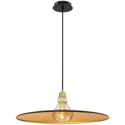 Priscilla Polished 1-Light Inverted Pendant Finish: Gold, Size: 72 H x 19.25 W x 19.25 D