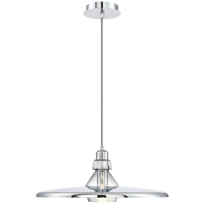 Priscilla Polished 1-Light Inverted Pendant Finish: Chrome, Size: 72 H x 23.25 W x 23.25 D