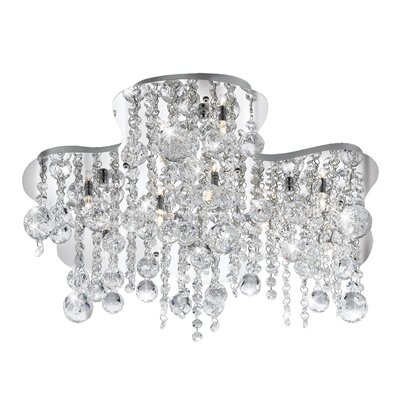 Alissa 10-Light Semi Flush Mount