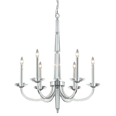 Senze 6-Light Candle-Style Chandelier