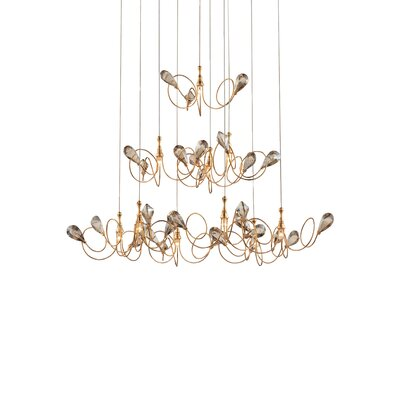 Volare 10-Light Pendant Finish: Gold/Champagne