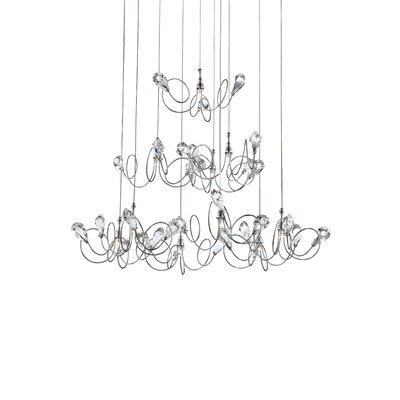 Volare 10-Light Pendant Finish: Chrome/Clear