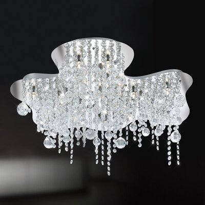 Alissa 18-Light Semi Flush Mount