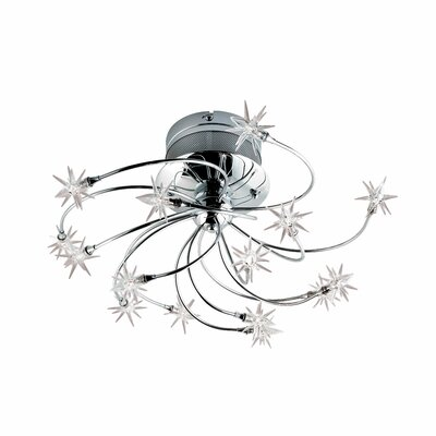 Starburst 15-Light Semi Flush Mount