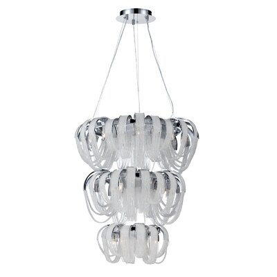 Sage 17-Light Shaded Chandelier