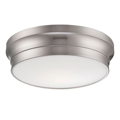 Jane 1-Light Flush Mount Finish: Nickel