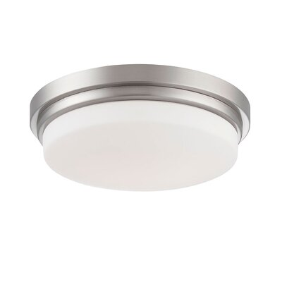 Wilson 1-Light Flush Mount Finish: Nickel