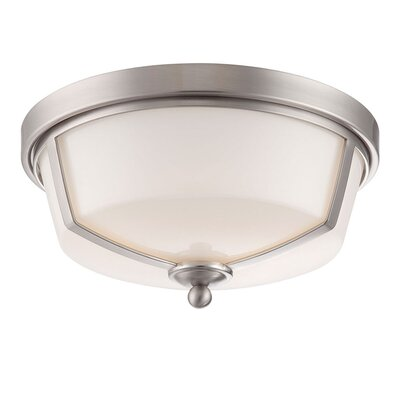 Kate 2-Light Flush Mount Finish: Nickel